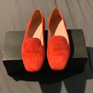 J. Crew smoking slipper in Fiery Sunset